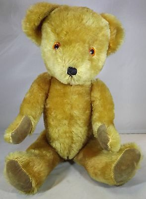 "VINTAGE 1960s/70s 17"" DEAN'S CHILDSPLAY MOHAIR WIND-UP MUSICAL TEDDY BEAR"