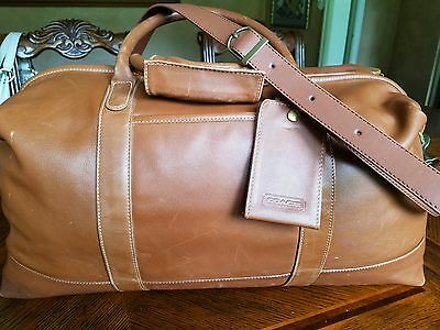 100% Authentic Coach Leather  Duffle bag Made in USA