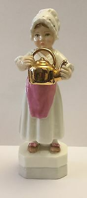 """Royal Worcester """"Polly Put The Kettle On"""" Figurine #3303"""