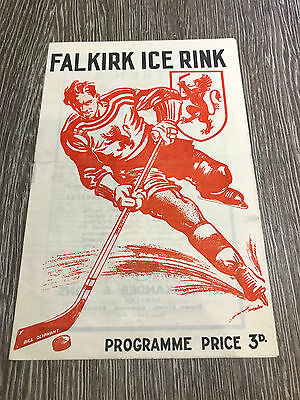 Falkirk Lions v Perth Panthers Ice Hockey Programme 1952