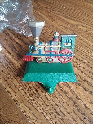 Christmas Train Midwest Train Engine Cast Iron Stocking Holder Hanger.