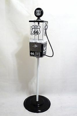 Route 66 Americana memorabilia gumball  machine candy/ nuts machine with stand