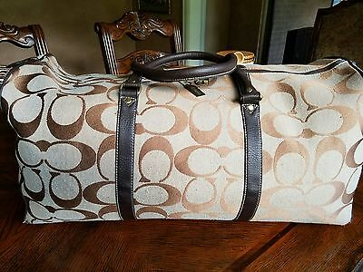 100% Authentic Coach Canvas Duffle bag Made in USA vintage