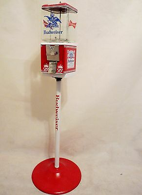 Budweiser beer candy machine  gumball machine with metal stand man cave bar gift
