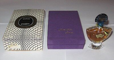 Vintage Guerlain Shalimar Perfume Bottle/Purple Boxes - 1/2 OZ, Open - 3/4+ Full