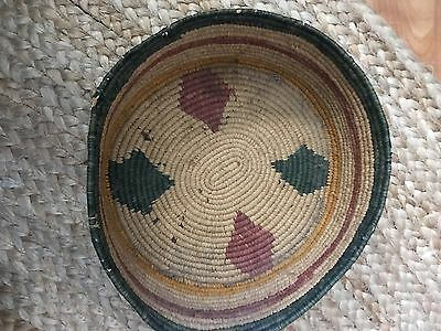 Antique Native American Indian Hand Woven Basket Bowl