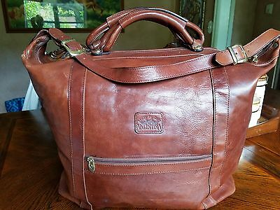 Authentic VALENTINA leather travel bag Made in ITALY