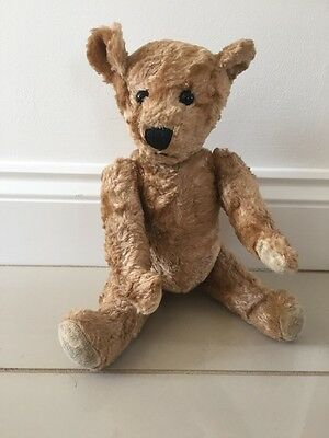Vintage Mohair ? Or Mohair Looking Fur Jointed Teddy