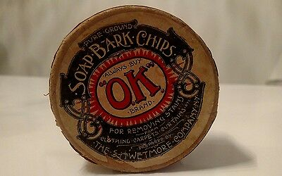 antique ok advertising soap bark chips for clothes