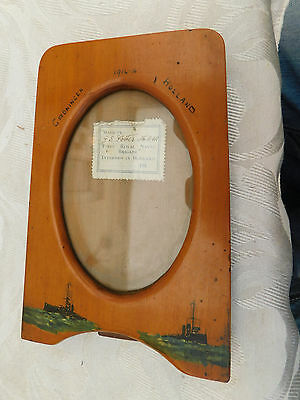 Ww1 Prisoner Of War Royal Navy Naval Division Brigade Groningen Holland Frame