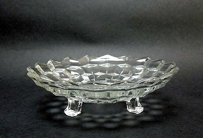 """Fostoria Glass American 3-Toed Footed 7"""" Round Bon Bon Candy Dish Bowl Vintage"""