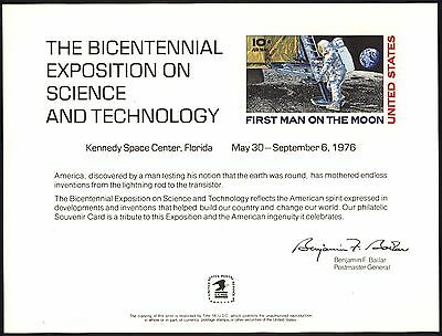 2x 1976 BEP Souvenir Cards Exposition on Science Technology Kennedy Space Center