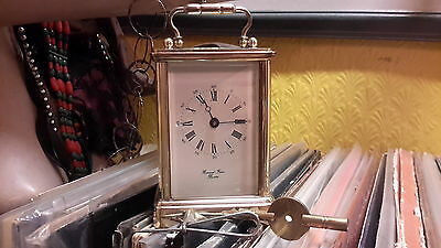 Bornand Freres Bicester Brass Carriage Clock Excellent W Key - Full Working