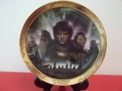 Lord of the Rings: Reliving the Adventure -  set of 3 - plates & hanger see pics