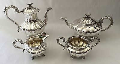 Birks Sterling Silver Vintage 4 pc Tea and Coffee Set 97.7 Troy Oz. 3038 grams