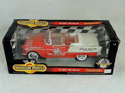 1998 American Muscle 1955 Chevy Indy Pace Car 1/18 Die-Cast #7124