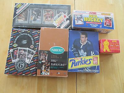 Huge Lot of 6 Hockey Card Boxes 1990-94, All Factory Sealed!