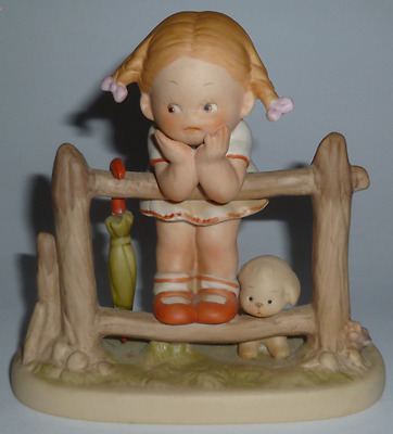 Enesco1987 Attwell Memories Of Yesterday Figurine What Will I Grow Up To Be Girl