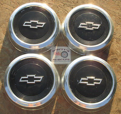 1980's-90's Chevy Pickup Truck, Van Dog Dish Hubcaps, Set Of 4 ~No Reserve~