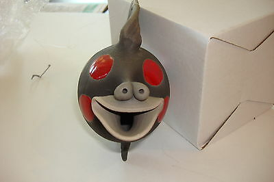 Hanging Raku Fish Original Ellsworth Copyright 1989 Red Spots Smiling