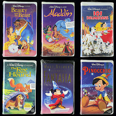 SEALED DISNEY VHS LOT of 23 - Black Diamond Classics : Masterpiece Collection