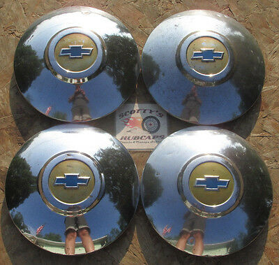 1949, 1950 Chevy Bel Air, Styleline Deluxe ~Poverty~ Dog Dish Hubcaps, Set Of 4