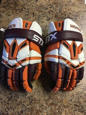 STX Cell Gloves Virginia Tech College Lacrosse. Size 13