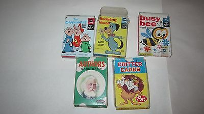 Lot of 5 Vintage Educards / Whitman / Post Card Games