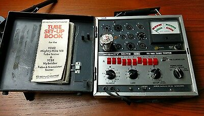 Vintage sencore mighty mite VII tc162 tube tester   excellent condition tested