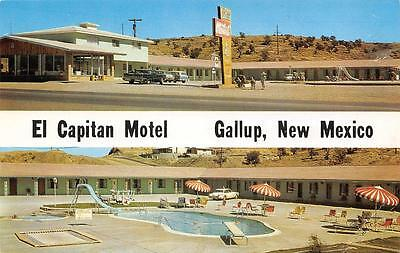 EL CAPITAN MOTEL Route 66 Roadside GALLUP, NM ca 1960s New Mexico Postcard