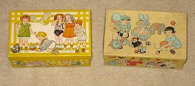 Vintage 2 Children Cardboard Shoe Boxes: Wee Walker and Unbranded, Children, Toy