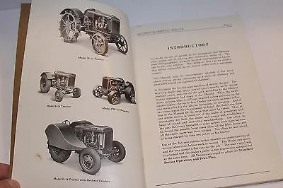 1939 Standard Service Operations Prices 12 & 14 Series Tractors IHC McCormick &c