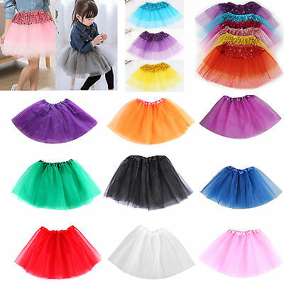 Ballet Tutu Princess Dress Up Dance Wear Costume Party Girl Toddler Kids Skirt O