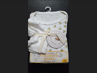 Burt's Bees Baby Coverall & Hat Set 3-6 Months! Brand New!