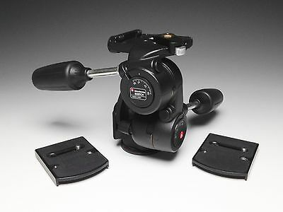 Manfrotto 808RC4 3-Way Pan/Tilt Tripod Head with RC4 Quick Release & 2 Plates