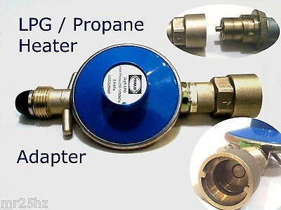 Gas Heater lpg Propane connector Adapter Solid Brass fitting, to gas bottle