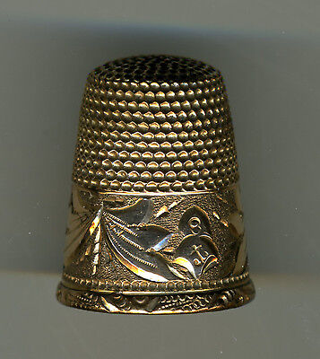 Lot of 2 Antique Gold/Silver Thimbles from Stern Bros and Barker