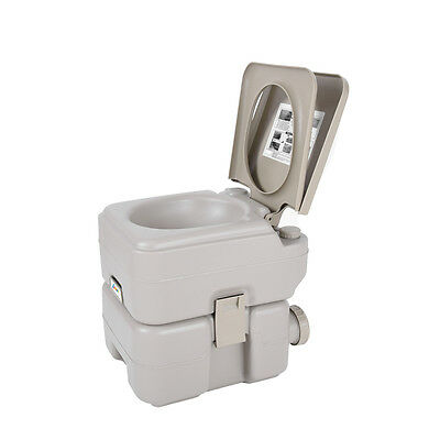 20L Portable Travel Camping Toilet WC Flush Mobile Pump Outdoor Activity