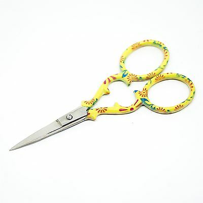 """Quality Stainless Steel Embroidery Scissors Straight 90mm - 3.5"""" inch - ESS-03"""