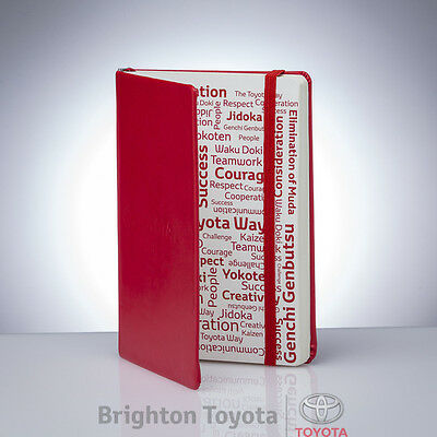 New Official Toyota Merchandise Toyota Note Book  Part TMTOY014TN