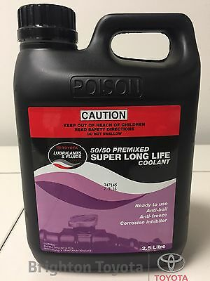 New Genuine Toyota Super L.L.C. long life pink Coolant 2.5 LT Part 0888980076