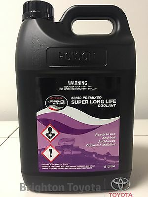 New Genuine Toyota Super L.L.C. 5 LTR long life pink Coolant Part 0888980077