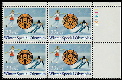 US #2142 22¢ Winter Special Olympics Plate Block MNH