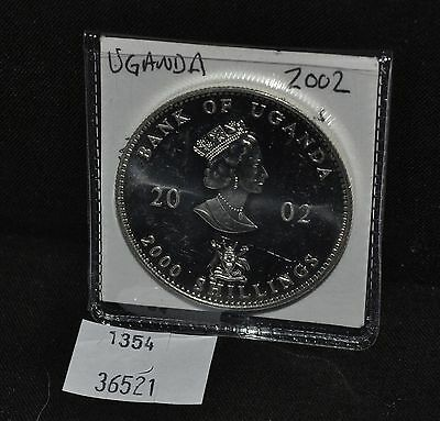 West Point Coins ~ Uganda 2002 2000 Shillings Silver Coin