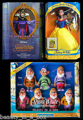 Evil Queen Doll Great Villains Snow White and the Seven Dwarfs & 7 Disney Lot 9D
