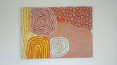 GORGEOUS Walangkura Napanangka LARGE ABORIGINAL ART PAINTING