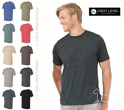 Next Level Mens 3.5 oz Poly/Cotton Blend Short Sleeve T-Shirt 6200 Up to 2XL