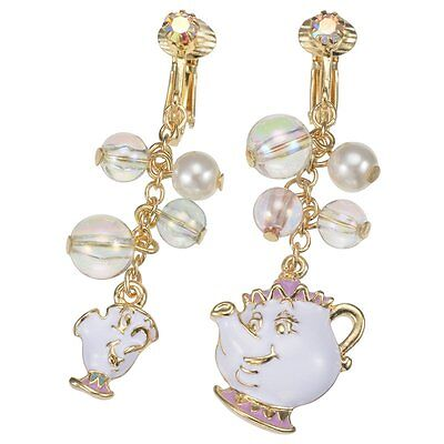 Disney store Japan earrings pot wife and chip Beauty AND THE BEAST