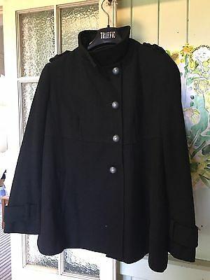 Black Wool Blend Maternity Jacket Size 12