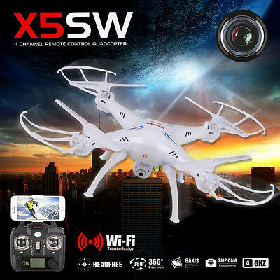 White Syma X5SW WIFI FPV Drone with 2MP HD Camera 2.4G 4CH 6-Axis RC Quadcopter